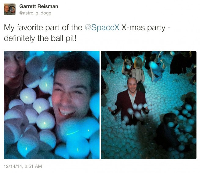 SpaceX Holiday Party Ball Pit - Garrett Reisman