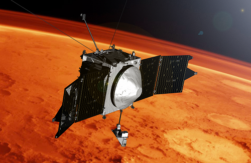 MAVEN is the first mission solely dedicated to studying the tenuous upper atmosphere of Mars. Image Credit: NASA/JPL-Caltech