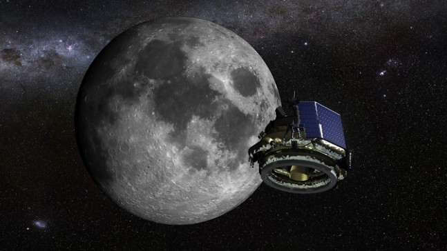 An artist illustration of the Moon Express MX-1 lunar lander on its mission to the moon as seen on spaceflight insider.