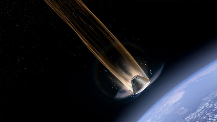 nasa-orion-reentry into Earth's atmosphere NASA image posted on SpaceFlight Insider