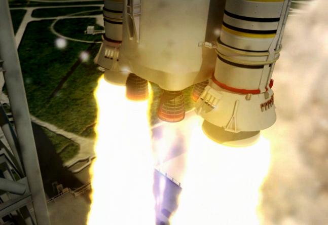 sls_launch_closeup_engines_at_liftoff_NASA image posted on SpaceFlight Insider