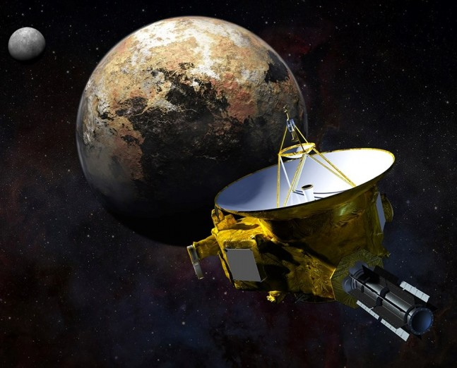 Artist concept of New Horizons at Pluto as posted on SpaceFlight Insider