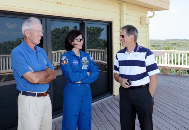 Astronauts Robert C. Springer, Nicole P. Stott, Samuel T. Durrance Astronaut Beach House photo credit Alan Walters Alan Walters photography
