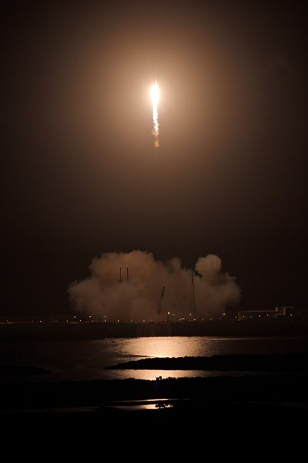 SpaceX Falcon 9 v1.1 Cape Canaveral Air Force Station Space Launch Complex 40 Dragon CRS-4 SpX-4 Commercial Resupply Services photo credit Mike Deep SpaceFlight Insider