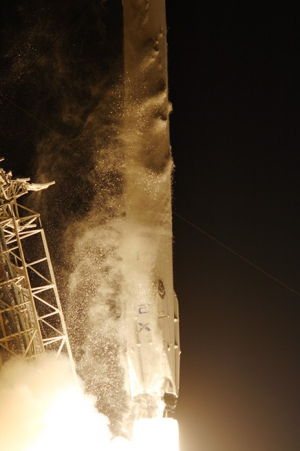 Falcon 9 launch as seen on Spaceflight Insider