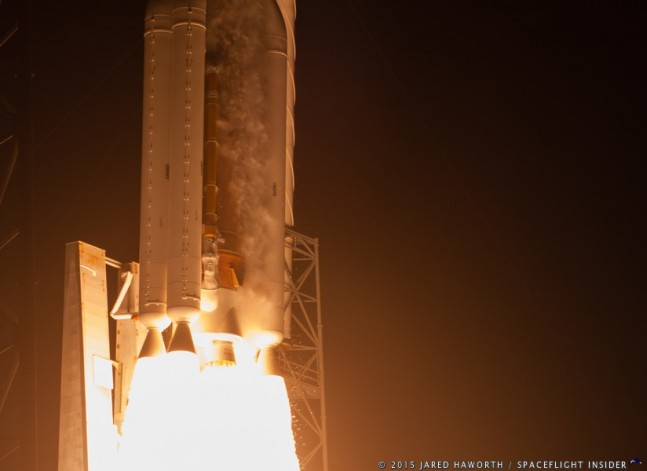 United Launch Alliance ULA Atlas V 551 MUOS-3 spacecraft photo credit Jared Haworth SpaceFlight Insider