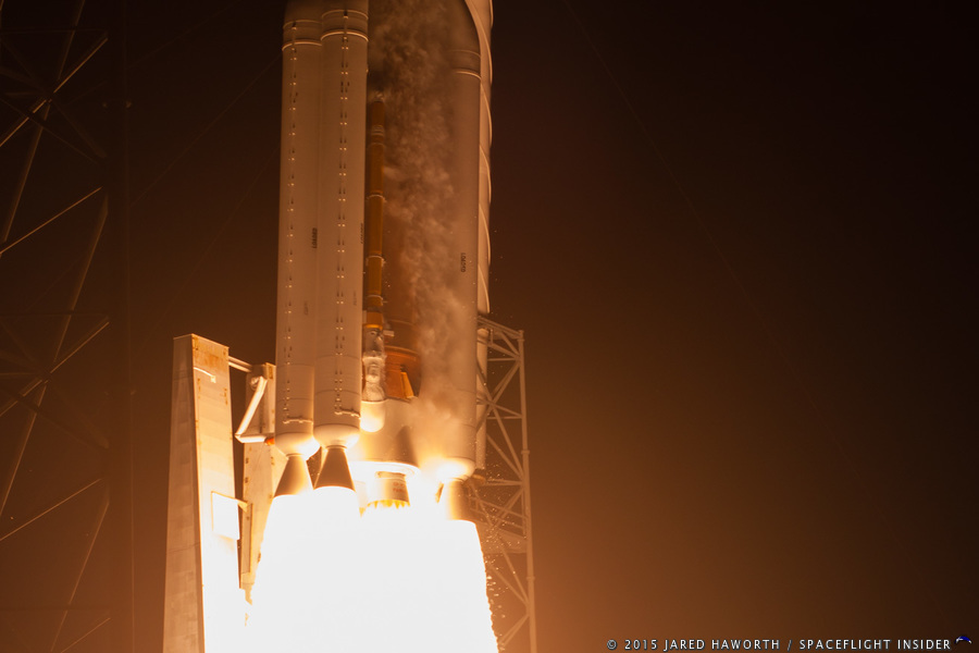 United Launch Alliance ULA Atlas V 551 MUOS-3 Cape Canaveral Air Force Station Space Launch Complex 41 SLC-41 Photo Credit Jared Haworth SpaceFlight Insider