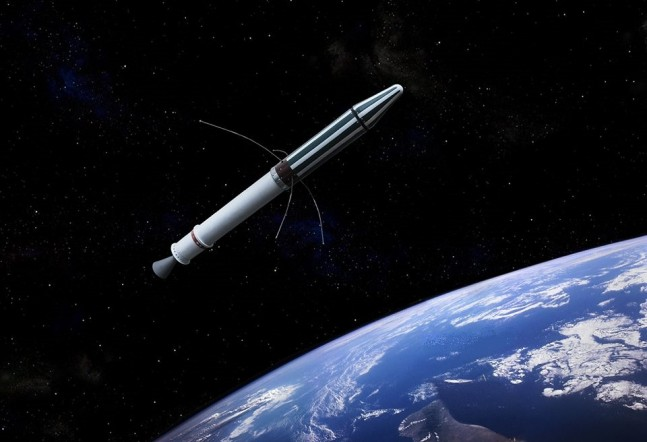 Explorer-I spacecraft in orbit above Earth image credit Erik Simonsen posted on SpaceFlight Insider with permission of the artist