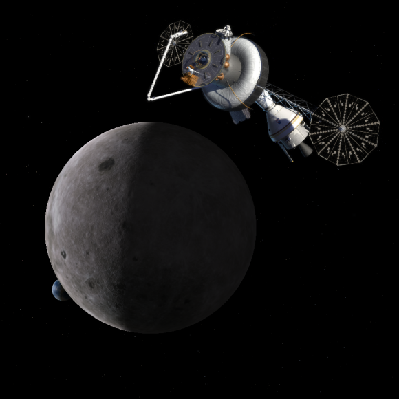 Future deep space base Moon image credit NASA posted on SpaceFlight Insider