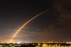 MUOS-3 soars into orbit atop a ULA Atlas V rocket. Photo Credit Michael Seeley / SpaceFlight Insider