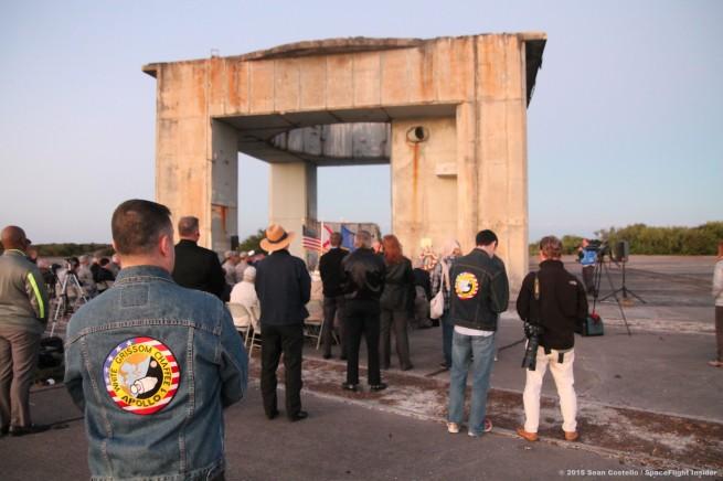 Crowd at Apollo 1 memorial