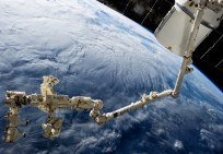 International Space Station ISS NASA Dextre Dragon spacecraft NASA photo posted on SpaceFlight Insider
