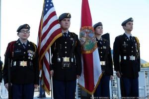 ROTC program at Merritt Island High School presented colors as seen on Spaceflight Insider