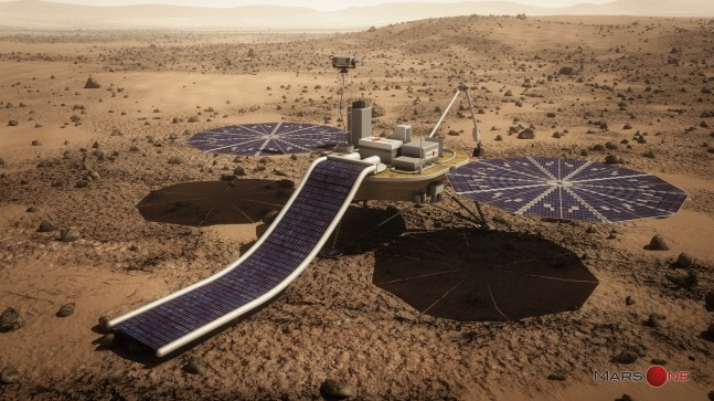 Artist's rendering of the Mars One lander