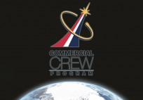 NASA Commercial Crew Program CCP logo in front of Earth posted on SpaceFlight Insider