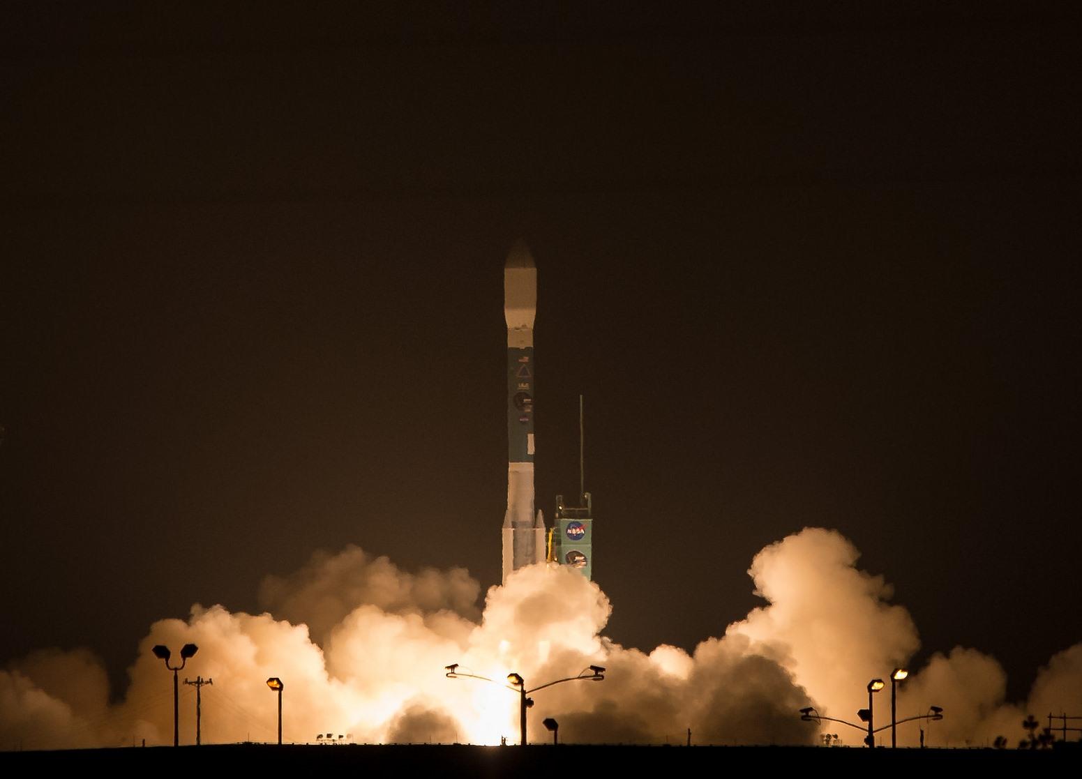 NASA's SMAP Soars Into The Sky Atop ULA Delta II Rocket On