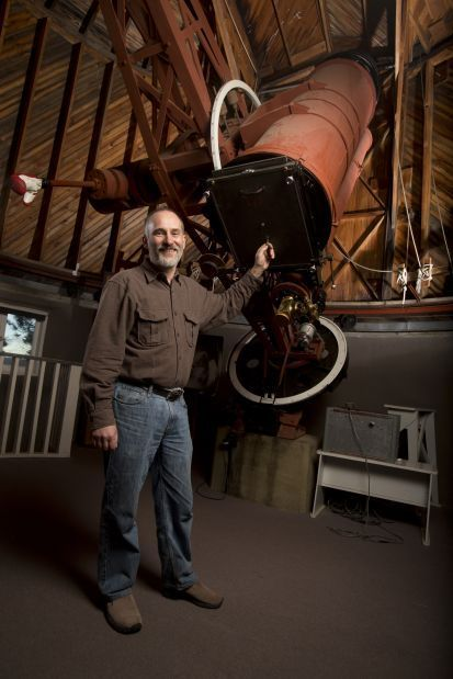 New Horizons is led by principal investigator Alan Stern, and co-investigator Will Grundy, seen here at Lowell Observatory. Photo Credit: NASA