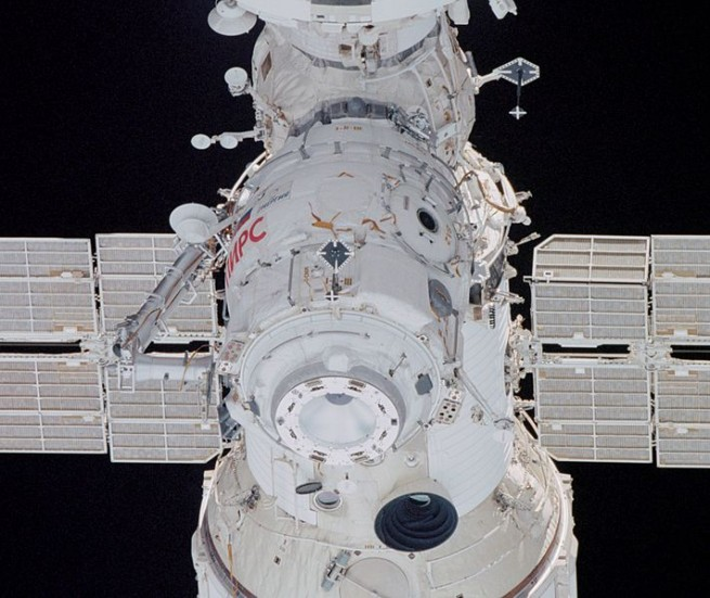 Russian Pirs_docking_module_taken_by_STS-108 NASA image posted on SpaceFlight Insider