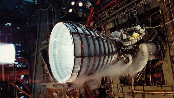 SSME Space Shuttle Main Engine Stennis Space Center RS-25 NASA image posted on SpaceFlight Insider