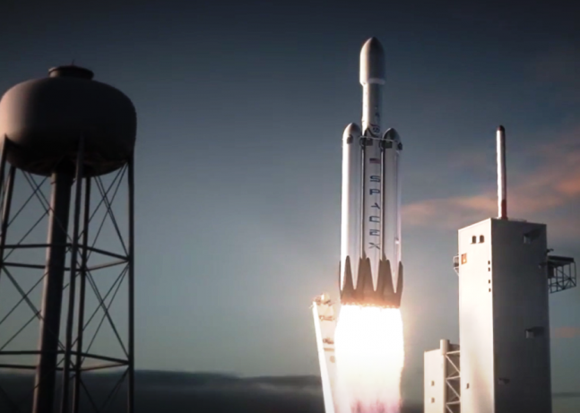 spacex releases animation of falcon heavy launching from lc 39a spaceflight insider. Black Bedroom Furniture Sets. Home Design Ideas