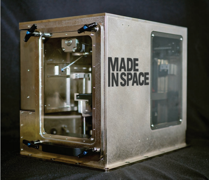 Designed by Made In Space, this is the prototype for a 3D printer that can operate in microgravity. Image Credit: NASA