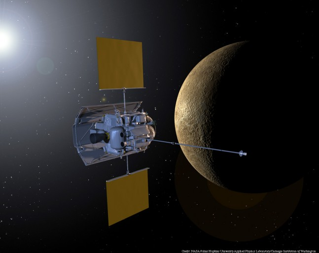 Artist's conception of the MESSENGER spacecraft as seen on Spaceflight Insider.