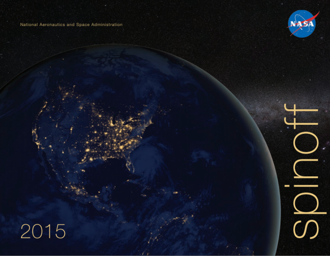 The cover of the 2015 edition of NASA's annual Spinoff publication. Image Credit: NASA