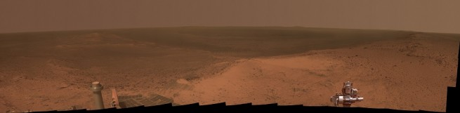 Opportunity Rover at Cape Tribulation as seen on Spaceflight Insider