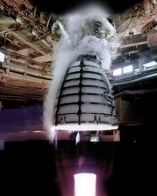 The RS-25 engine, formerly responsible for powering the space shuttle, will power NASA's Space Launch System as seen on Spaceflight Insider