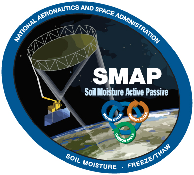 SMAP mission logo as seen on Spaceflight Insider