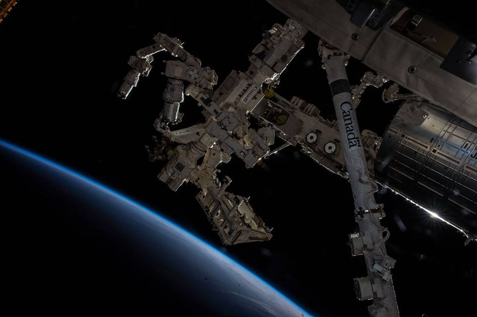 International Space Station ISS Canadian Space Agency Dextre robotic arm NASA photo posted on SpaceFlight Insider
