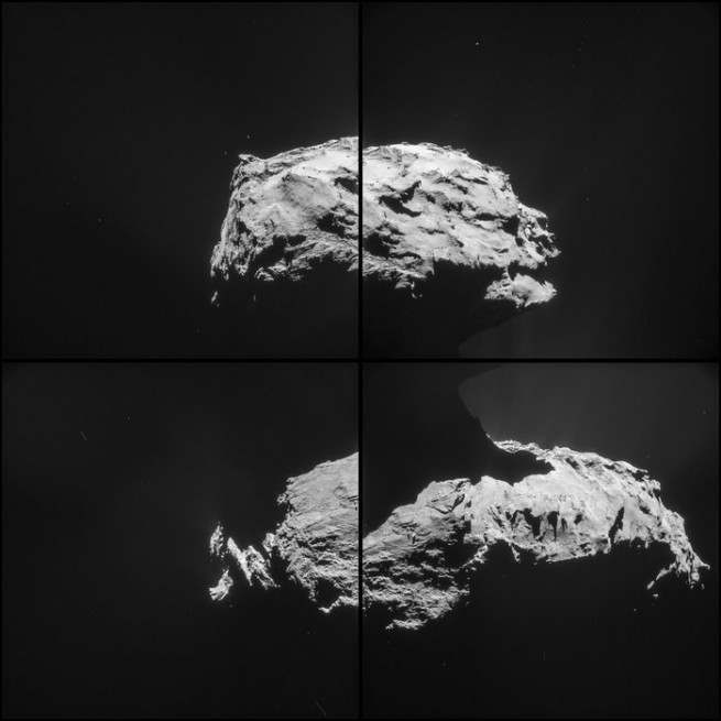 Comet 67P as seen on Spaceflight Insider