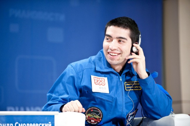 Diego Urbina at the Mars500 press conference on Nov. 8, 2011