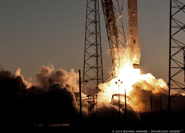 DSCOVR launch as seen on Spaceflight Insider
