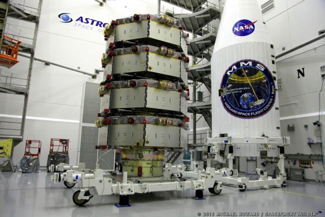 Atlas V 421 MMS spacecraft Astrotech facilitites photo credit Michael Howard SpaceFlight Insider