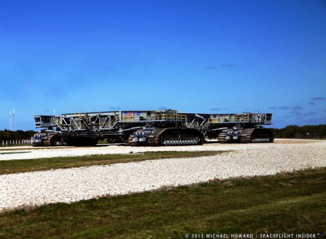 Crawler Transporter 2 has been upgraded to support the additional weight of the SLS rocket. Photo credit: Mike Howard / SpaceFlight Insider