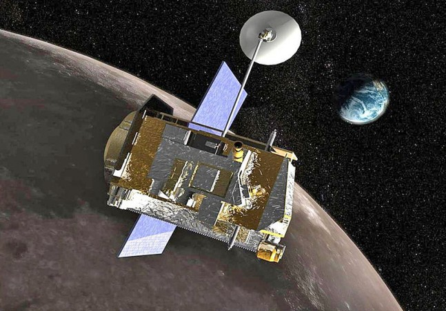 Artist's rendition of the LRO spacecraft in orbit around the Moon as seen on Spaceflight Insider