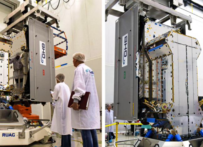 ESA Galileo FOC spacecraft fit check ESA photo posted on SpaceFlight Insider