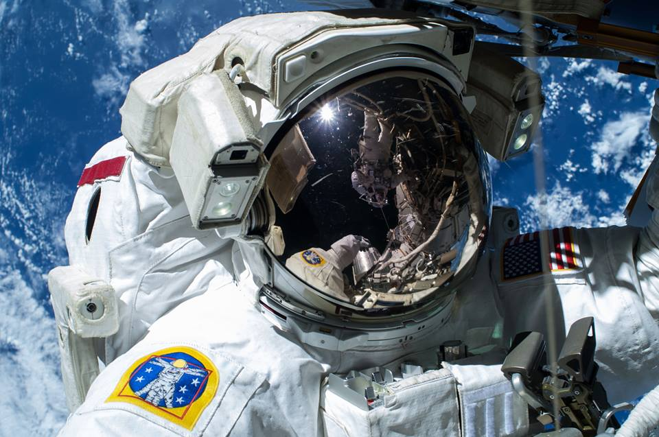 Expedition 42 commander barry Wilmore International Space Station ISS spacewalk EVA extra-vehicular activity 185 photo credit Terry Virts NASA posted on SpaceFlight Insider