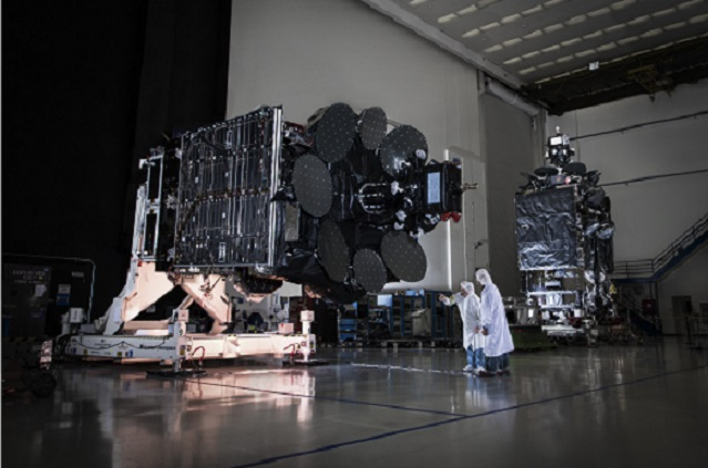 Inmarsat-5 F-1 and F-2 in Boeing's El Segundo Facility as seen on Spaceflight Insider