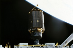 Intelsat 603 is captured by Endeavour. Photo Credit: NASA