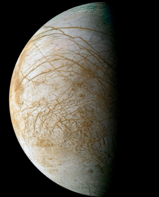 Jupiter moon Europa NASA JPL image posted on SpaceFlight Insider