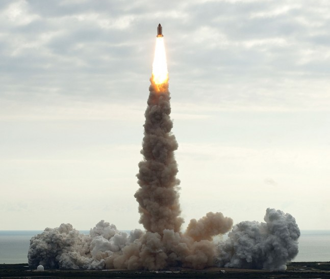 STS-134 launch as seen on Spaceflight Insider