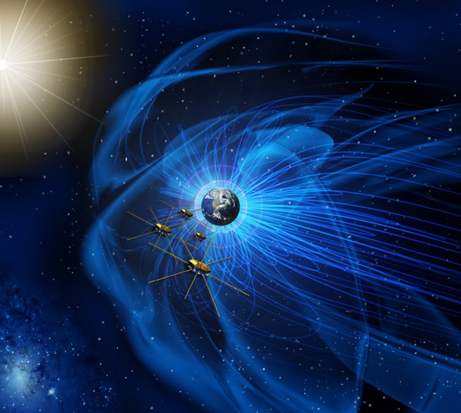 Artist conception of MMS satellites as seen on Spaceflight Insider