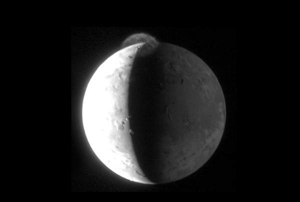 New Horizons image of the Jovian moon Io as seen on Spaceflight Insider