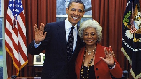 Obama and Nichelle Nichols as seen on Spaceflight Insider