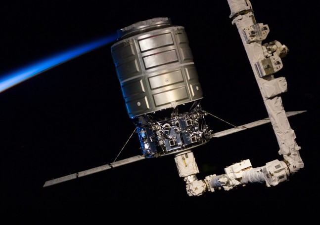 Orbital Sciences Corporation Cygnus spacecraft NASA photo posted on SpaceFlight Insider