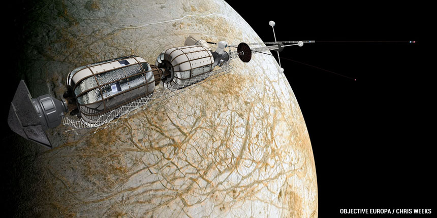 Objective Europa's Transit Vehicle concept. Credit: Chris Weeks posted on SpaceFlight Insider