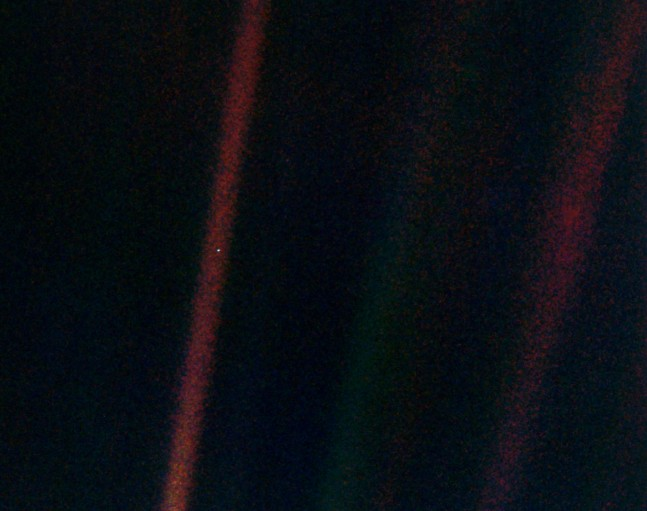 Pale blue dot as seen on Spaceflight Insider