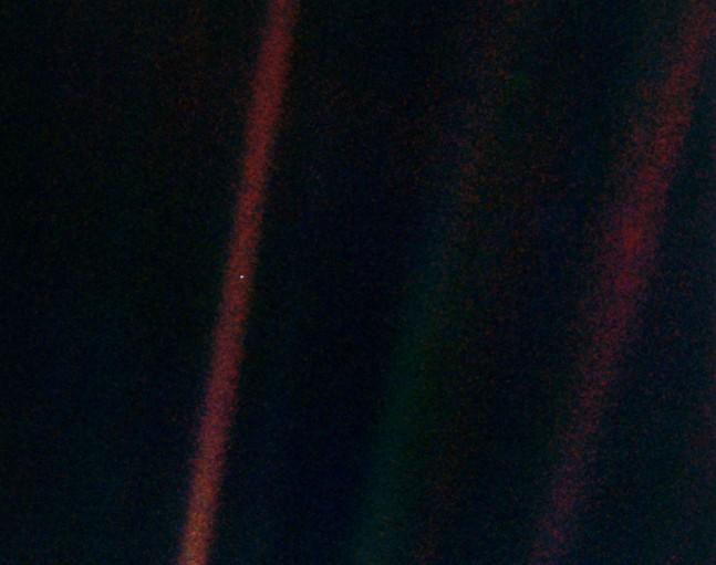 Pale blue dot as seen on Spaceflight Insider